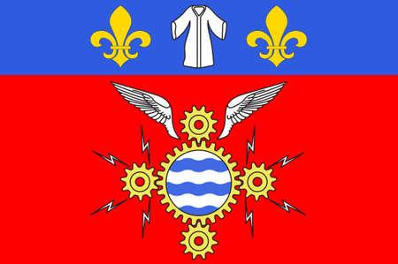 Flag of Argenteuil is a commune in the northwestern suburbs of Paris, France. 3d illustration Standard-Bild
