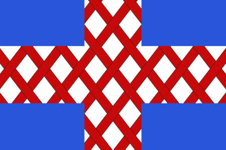 Flag of Cholet is a commune of western France in the Maine-et-Loire department. 3d illustration Stock Photo