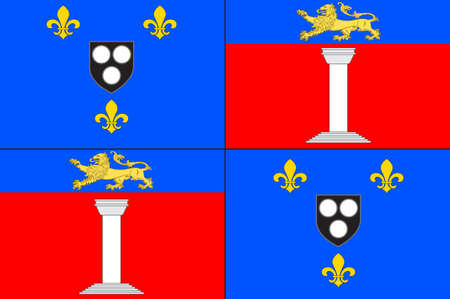 Flag of Antony is a subprefecture of the Hauts-de-Seine department and the seat of the arrondissement of Antony, France. 3d illustration