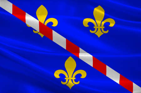 Flag of Evreux is a commune in the Eure department, of which it is the capital, in Haute Normandie in northern France. 3d illustration