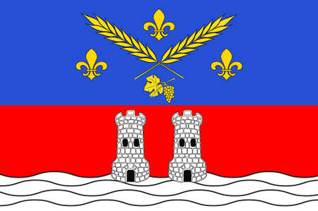 Flag of Nogent-sur-Marne is a commune in the eastern suburbs of Paris, France. 3d illustration Stock Photo