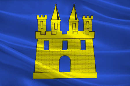 Flag of Gap is a commune in southeastern France, the capital and largest town of the Hautes-Alpes department. 3d illustration