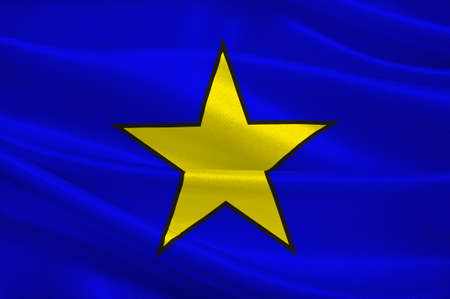 Flag of Istres is a commune in southern France. It is in the Provence-Alpes-Cote dAzur region, in the Bouches-du-Rhone department, of which it is a subprefecture. 3d illustration