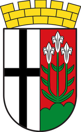 Coat of arms of Fulda is a city in Hesse, Germany. Vector illustration