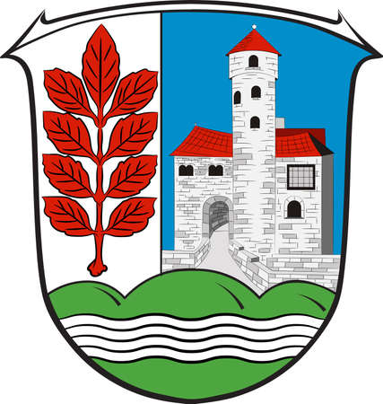 Coat of arms of Werra-Meissner is a district in the north of Hesse, Germany. Vector illustration