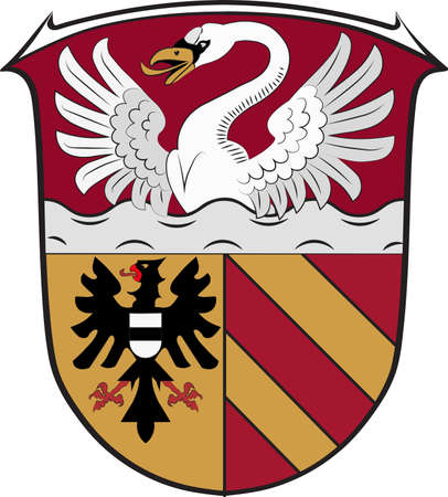 Coat of arms of Main-Kinzig is a district in the east of Hesse, Germany. Vector illustration