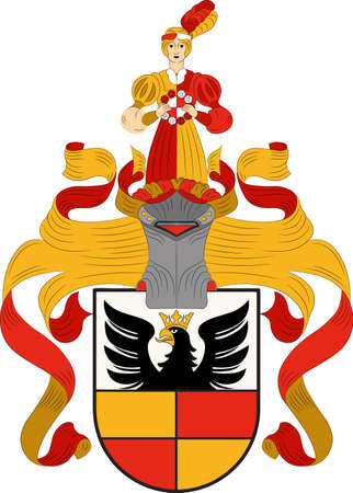 Coat of arms of Hildesheim is a city in Lower Saxony, Germany. Illustration