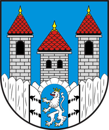 Coat of arms of Holzminden is a town in southern Lower Saxony, Germany. Illustration