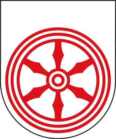 Coat of arms of Melle is a city in the district of Osnabrueck, Lower Saxony, German.