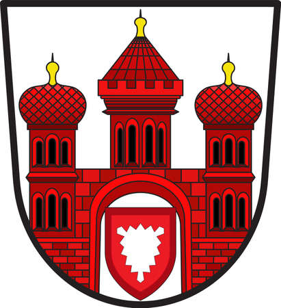 Coat of arms of Stadthagen is the capital of the district of Schaumburg, in Lower Saxony, Germany. Illustration