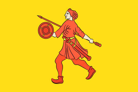 Flag of Wilhelmshaven is a coastal town in Lower Saxony, Germany.