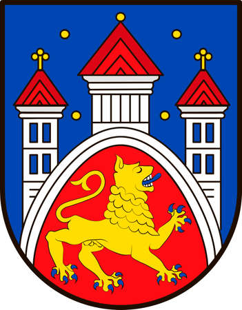 Coat of arms of Goettingen is a university city in Lower Saxony, Germany. Illustration