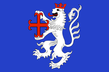 Flag of Hamelin-Pyrmont is a district in Lower Saxony, Germany. Illustration