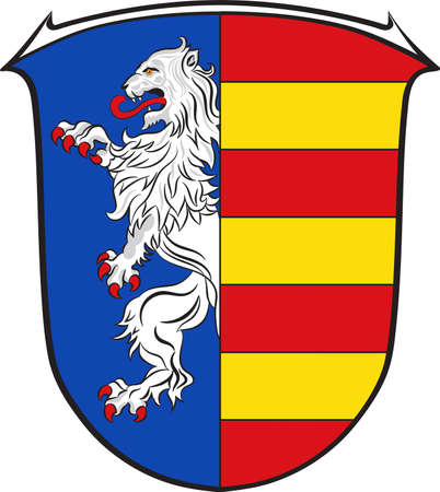 Coat of arms of Garbsen is a town in the district of Hanover, in Lower Saxony, Germany. Illustration