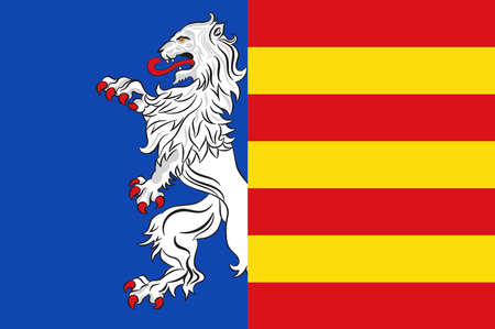Flag of Garbsen is a town in the district of Hanover, in Lower Saxony, Germany. Illustration