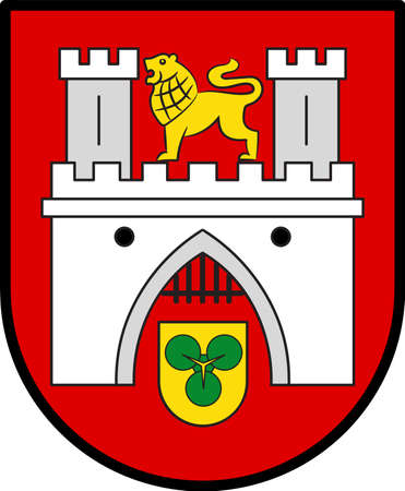Coat of arms of Hanover or Hannover is the capital and largest city of the German state of Lower Saxony, Germany. Illustration
