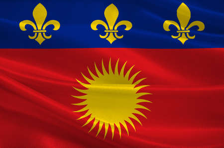 Flag of Basse-Terre is a French commune in the Guadaloupe department of France in the Lesser Antilles. 3d illustration Standard-Bild