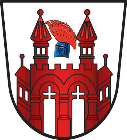 Coat of arms of Neubrandenburg is a city in the southeast of Mecklenburg-Vorpommern, Germany. Vector illustration