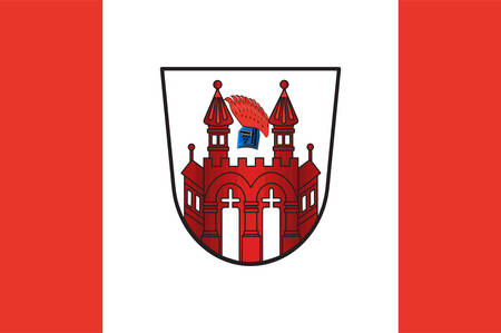 Flag of Neubrandenburg is a city in the southeast of Mecklenburg-Vorpommern, Germany. Vector illustration