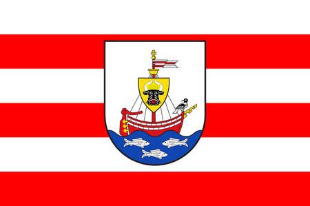 Flag of Wismar Vector illustration