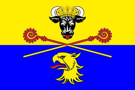 Flag of Rostock Vector illustration
