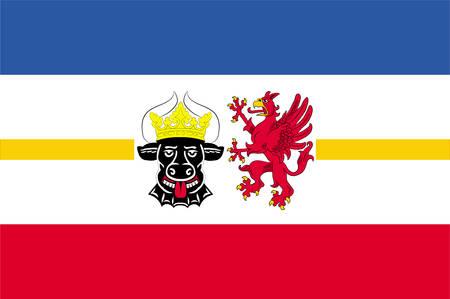 Flag of Mecklenburg-West Pomerania Vector illustration