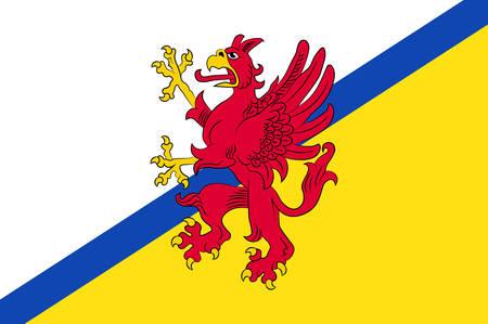 Flag of Vorpommern-Greifswald Vector illustration Illustration