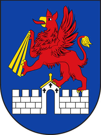 Coat of arms of Anklam is a town in the Western Pomerania region of Mecklenburg-Vorpommern, Germany. Vector illustration Illustration