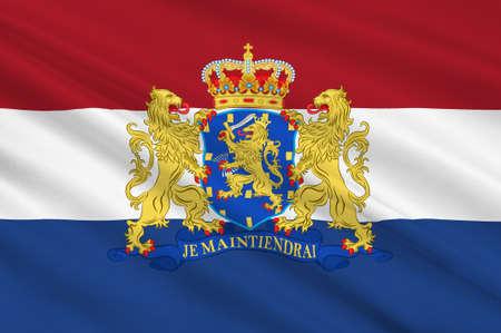 Flag of Netherlands or Kingdom of the Netherlands. 3d illustration