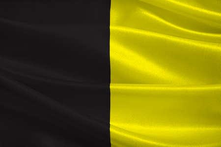 Vlag van Sneek is een stad ten zuidwesten van Leeuwarden en de zetel van de voormalige gemeente Sneek in de provincie Friesland in Nederland. 3D illustratie