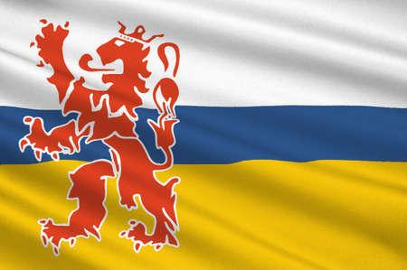 Flagge von Limburg ist die südlichste der 12 Provinzen der Niederlande . 3D-Darstellung Standard-Bild - 92343975