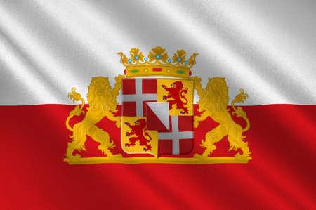 Flag of Utrecht is a province of the Netherlands. 3d illustration