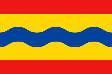 Flag of Overijssel or Overissel is a province of the Netherlands in the central-eastern part of the country. 3d illustration 写真素材