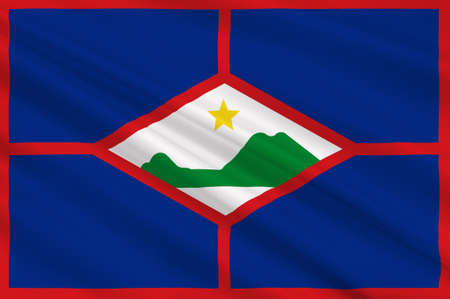 Flag of Sint Eustatius also known affectionately to the locals as Statia of the Netherlands. 3d illustration