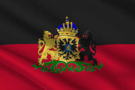 Flag of Nijmegen historically anglicized as Nimeguen is a municipality and a city in the Dutch province of Gelderland. 3d illustration