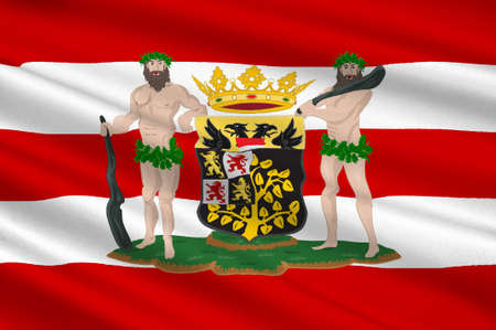 Flag of Hertogenbosch is a city and municipality in the southern Netherlands. It is the capital of the province of North Brabant. 3d illustration