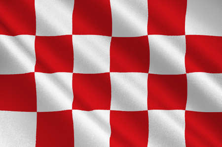Flag of North Brabant is a province in the south of the Netherlands. 3d illustration Stockfoto