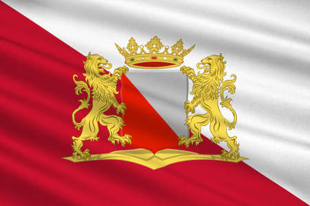 Flag of Utrecht is the capital and most populous city in the Dutch province of Utrecht. 3d illustration Stock Photo