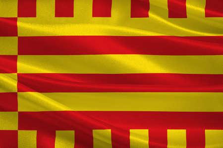 Flag of Alt Emporda is a comarca in Girona, Catalonia, Spain. 3d illustration