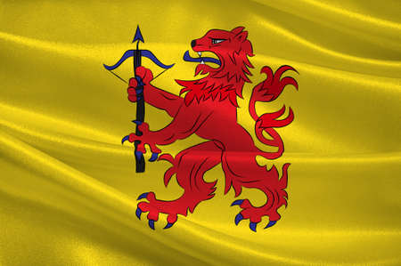 Flag of Smaland is a historical province  in southern Sweden. 3d illustration Stock Photo