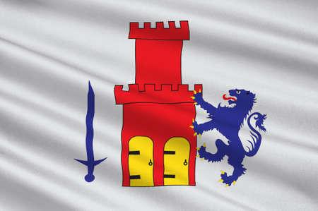 Flag of Bohuslan is a province in Gotaland of Sweden. 3d illustration