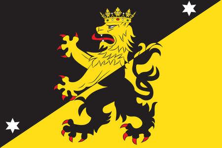 Flag of Vastergotland is the provinces of Sweden. 3d illustration