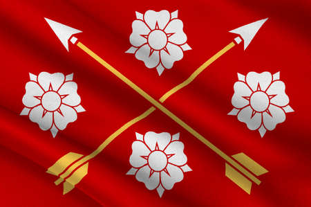 Flag of Nerke is a province situated in Svealand in south central Sweden. 3d illustration