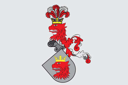 Flag of Malmo is the third largest city in Sweden. 3d illustration
