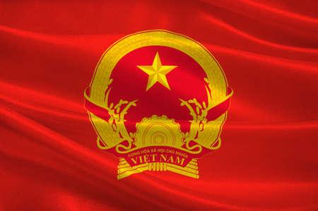 ベトナムの正式にベトナムの社会主義共和国の旗。3Dイラストレーション