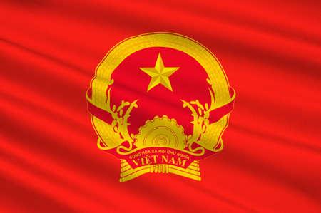正式にベトナム社会主義共和国のベトナムのフラグです。3 D イラストレーション 写真素材