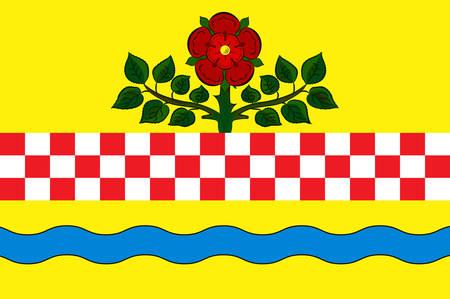Flag of Nachrodt-Wiblingwerde is a municipality in the Maerkischer Kreis, North Rhine-Westphalia, Germany. Vector illustration