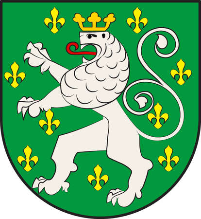 Coat of arms of Schleiden is a town in North Rhine-Westphalia, Germany. Vector illustration Illustration