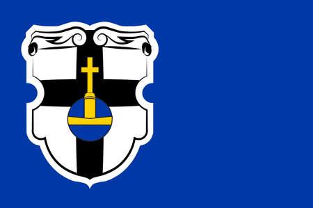Flag of Meckenheim is a town in the Rhein-Sieg district, in North Rhine-Westphalia, Germany. Illustration