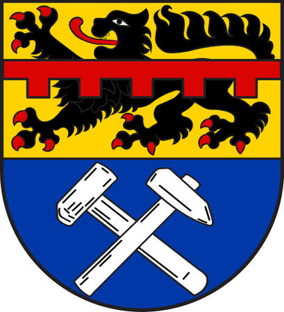 Coat of arms of Mechernich is a town in the district of Euskirchen in the south of the state of North Rhine-Westphalia, Germany. Illustration